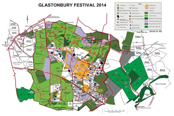 Mapa do Festival. Fonte: site oficial.